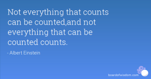 Not everything that counts can be counted