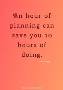 An hour of planning can save you 10 hours of doing