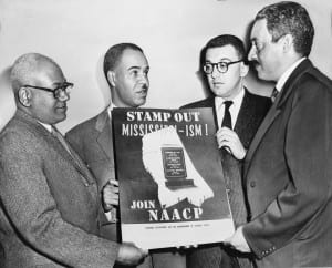 Thurgood Marshall (right) with NAACP leaders.