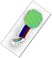 polymeric microscale swimmers