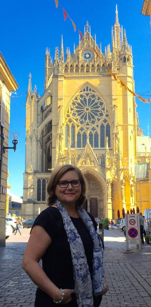 Dr. Birchfield at the St. Etienne Catherdral