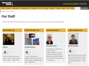 Safe Space logos on the website of the Communication Center