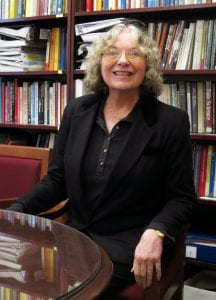 Mary Frank Fox in her office
