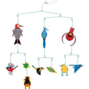 Hanging bird mobile by Charlie Harper