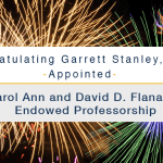 Garrett Stanley appointed to the Carol Ann and David D Flanagan Endowed Professorship