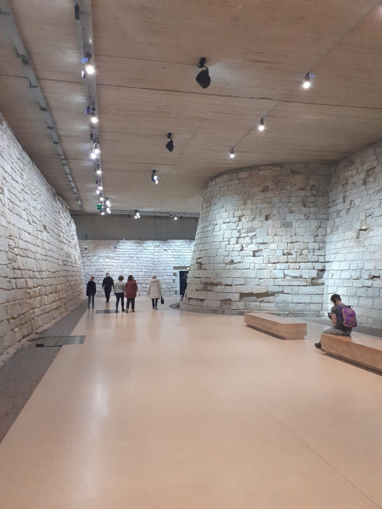 The existing remains of the Louvre Palace's beginnings as a fortress