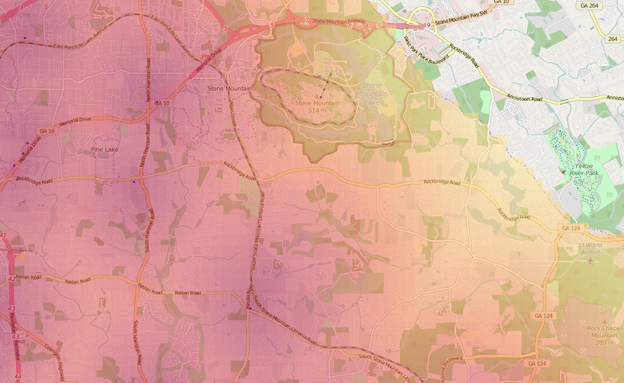 Example of ideal area coloring.