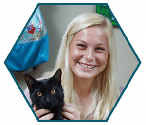Erin Dickson with her cat