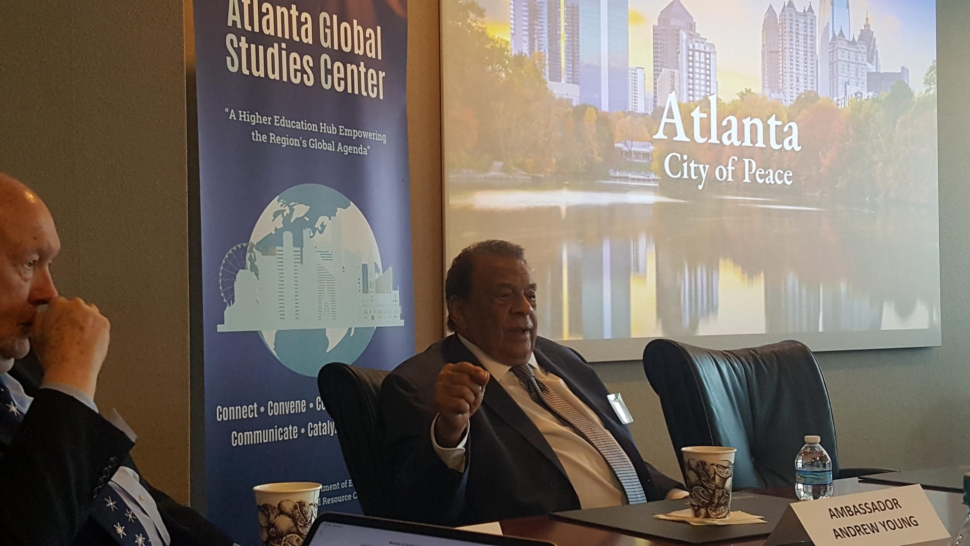 Andrew Young Speaking at Greater Atlanta Higher Education Leadership Meeting