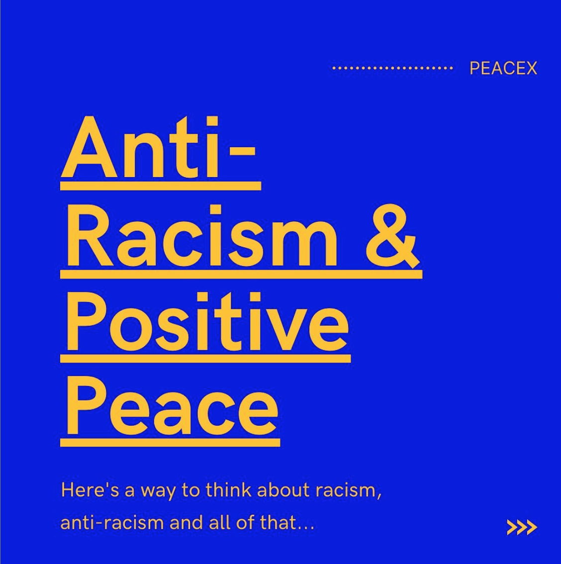 Anti-Racism & Positive Peace Cover Photo