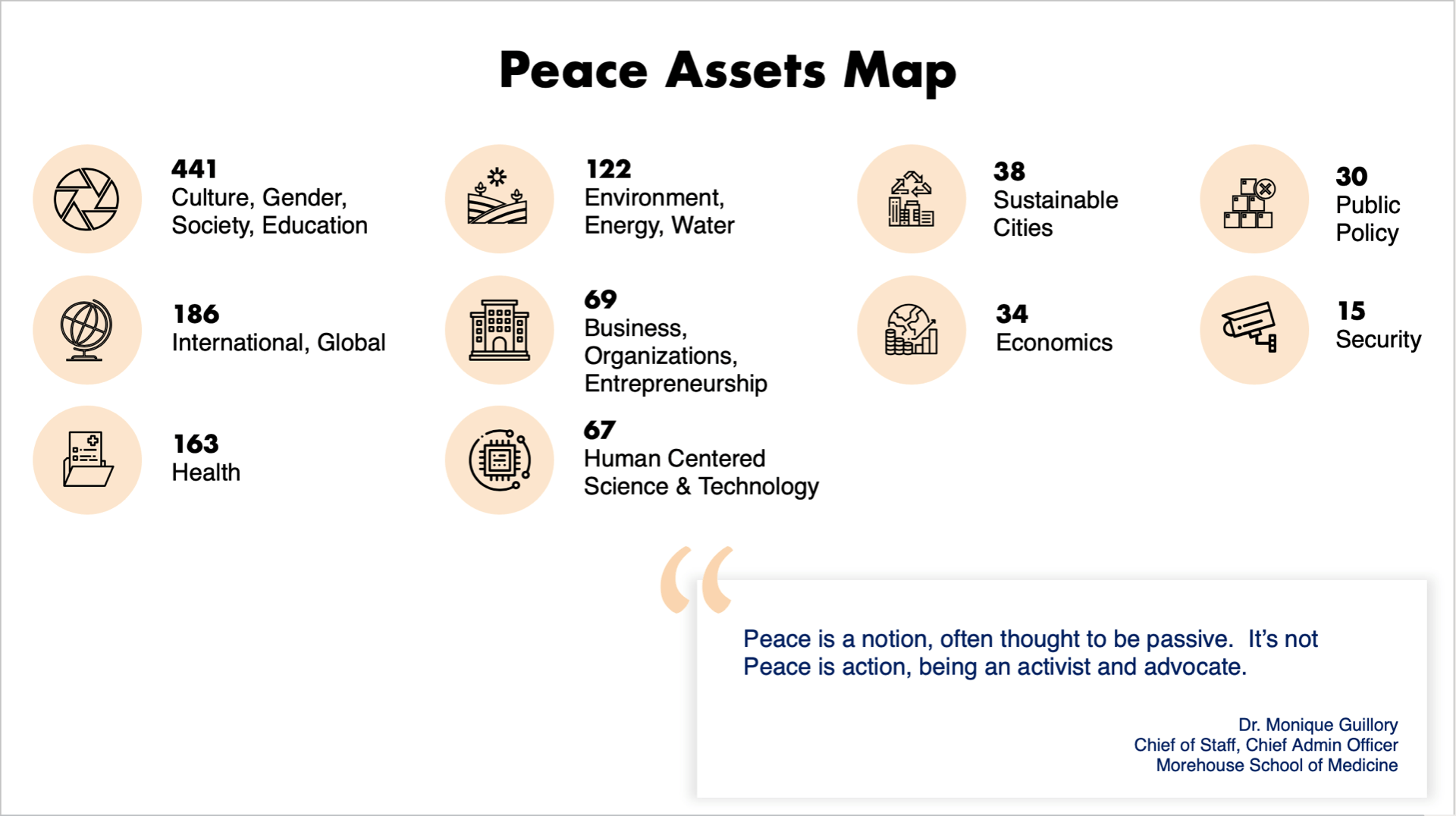 Overview of findings of peace asset mapping endeavor