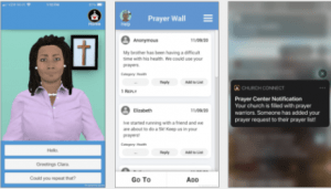 pictures of smarted and connected churches app
