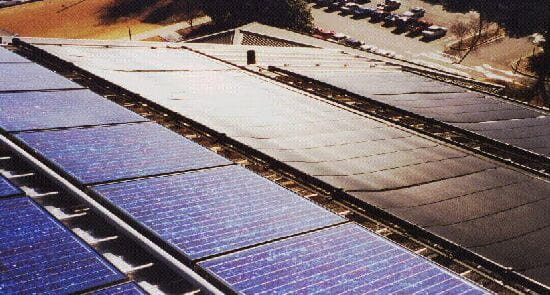 Solar Thermal System on the roof of the GTAC