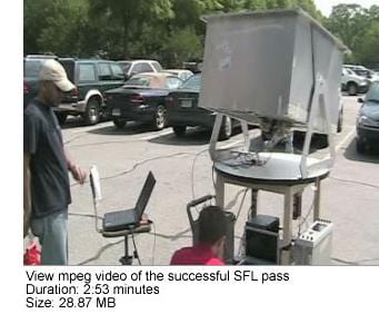 View mpeg video of successful SFL pass (duration 2:53 minutes; file size 28.87 MB).